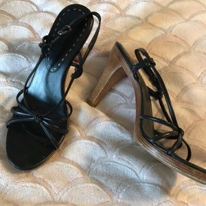 🔥Black strappy high heel shoes Size 9.5M